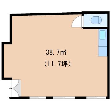物件番号: 1110303473 リトルK  富山市高屋敷 1DK アパート 間取り図