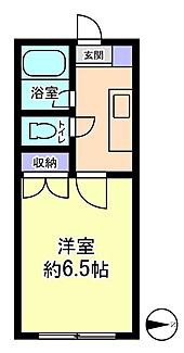 物件番号: 1110306357 セルーラ呉羽駅前  富山市呉羽町 1K アパート 間取り図