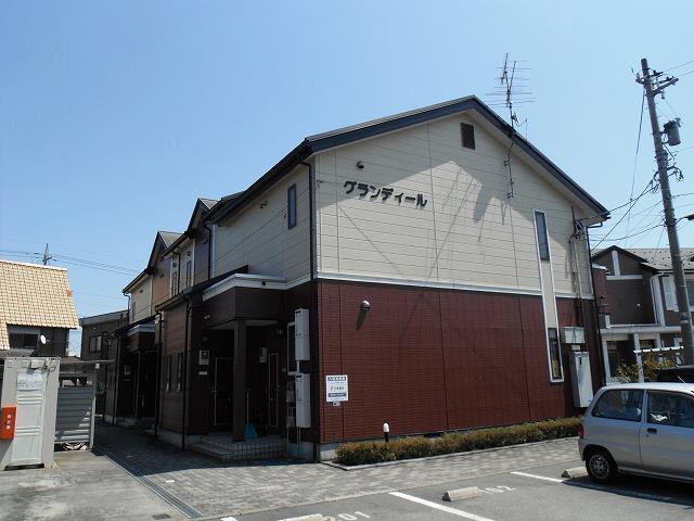 物件番号: 1110303120 グランディール  富山市山室荒屋 1LDK アパート 外観画像