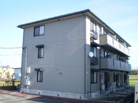 物件番号: 1110300624 リシェス・オカザキ  富山市黒崎 2LDK アパート 外観画像