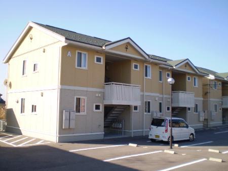 物件番号: 1110308773 ディールームときわ台 A  富山市常盤台 1LDK アパート 外観画像