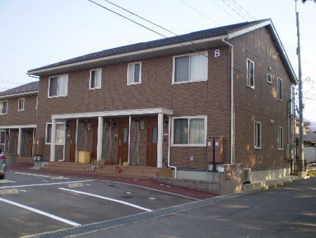 物件番号: 1110301835 ルシエルⅡ B  富山市西大沢 2LDK アパート 外観画像