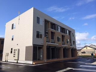 物件番号: 1110302393 サニースクエアB  富山市新庄北町 1LDK アパート 外観画像