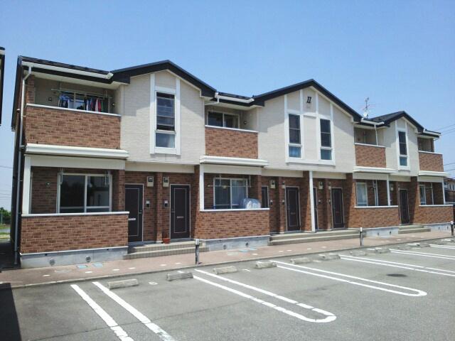 物件番号: 1110308875 プラートⅡ  富山市小原屋 2DK アパート 外観画像