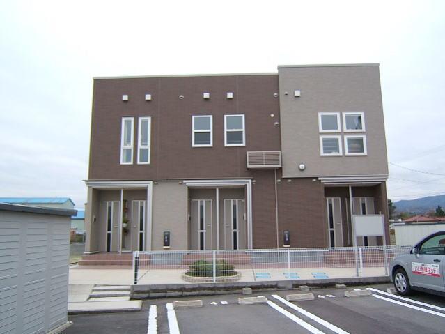 物件番号: 1110303651 ゼファーⅤ  富山市上大久保 1LDK アパート 外観画像