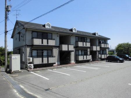 物件番号: 1110308512 ヴィルクレールA棟  富山市中川原 3DK アパート 外観画像