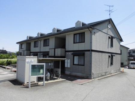 物件番号: 1110308514 ヴィルクレールB棟  富山市中川原 2DK アパート 外観画像