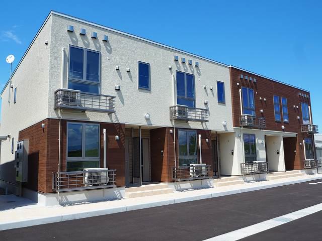 物件番号: 1110305501 プルミエリアⅡ  富山市新庄町2丁目 1LDK アパート 外観画像