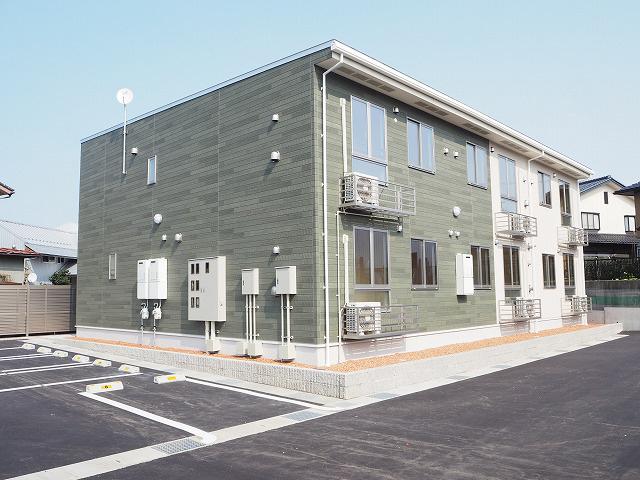物件番号: 1110303802 アルト・ピアーノⅡ  富山市茶屋町 1LDK アパート 外観画像