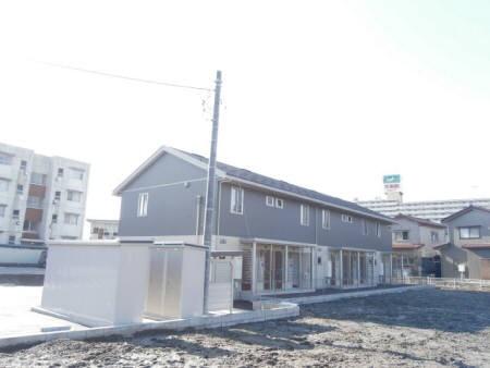 物件番号: 1110302615 D-room新庄  富山市新庄町3丁目 1LDK アパート 外観画像