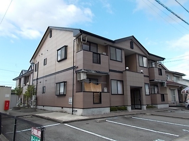 物件番号: 1110300301 ベルビィトンB  富山市町村1丁目 2DK アパート 外観画像